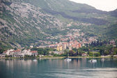 Boats in Kotor Bay — Stock Photo