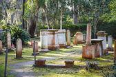 Staré náhrobky s příznaky southern cross — Stock fotografie