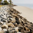 Rock Seawall To White House — Stock Photo