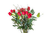 Bouquet of Red Roses on White Background — Photo