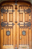 Old Wooden Doors with Brass Fixtures — Stock Photo