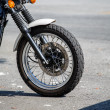 Front Wheel on Motorcycle — Stok fotoğraf