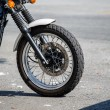 Front Wheel on Motorcycle — Stock Photo