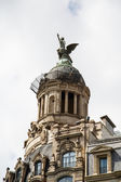 Winged Statue on Barcelona Dome — Stock Photo