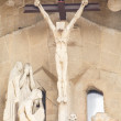 Statue of Crucifixion on Sagrada Familia — Stock Photo