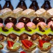 Stock Photo: Colorful Tarts on a Dessert Buffet