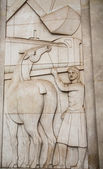 Carving in Stone Facade — Stock Photo