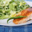 Salmon and Caesar with Pepper — Stock Photo