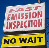 Szybko emisji kontroli — Zdjęcie stockowe