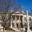 Courthouse with American and Georgia Flags — Stock Photo