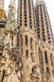 Two Spires of Sagrada Familia — Stock Photo