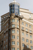 Old Apartment Building with Round Corner — Стоковое фото