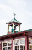 Bell Tower on Old Red Building — Stock Photo