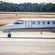 Stock fotografie: Front of Private Jet on Runway