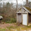 Old Pumphouse in Woods — Stock Photo