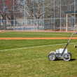 Chalk LIne Machine on Baseball Field — Stock Photo #31540029