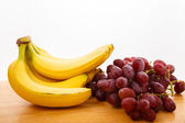 Bananas and Grapes — Stock Photo
