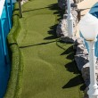Green Miniature Golf Course on Ship — Stock Photo #33305997