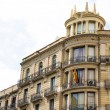 Barcelona Hotel with Iron Balconies — Stock Photo