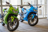 Green and Blue Sport Cycles — Stock Photo