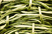 Green Beans in Market — Stock Photo