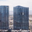 Two Blue and Grey Towers in Las Vegas — Stock Photo