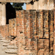 Line of Broken Brick Columns — Stock Photo