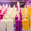 Stock Photo: Frozen Fruit Juice Bars in a Market