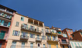 Colorful Plaster Buildings with Balconies — Stock Photo
