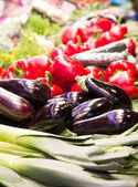 Eggplant in a Vegetable Market — Stock Photo