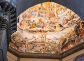 Painted Domed Ceiling in Chapel at Florence — Stock Photo