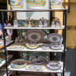 Italian Pottery on Store Shelves — Stock Photo