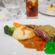 Mint Jelly with Lamb Chops and Mashed Potatoes — Stock Photo #35757817