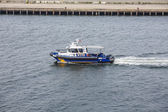 NYPD Boat in New York Harbor — Stock Photo