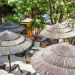 Thatched Roofs on Patio — Stockfoto