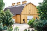 Modern Wood Plank Barn — Stock Photo
