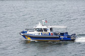 NYPD Boat in Harbor — Stock Photo
