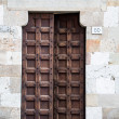 Old Wood Door with Iron Studs — Stock Photo