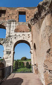 Nice View Through Old Roman Arch — Stock Photo