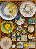 Hand Painted Plates and Tiles — Stock Photo