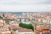 The Arno Past Ponte Vecchio — Stock Photo