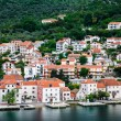 Stock Photo: Condos on Kotor Bay