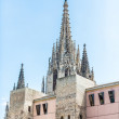 Gothic Church Spires in Barcelona — Stock Photo #38839311