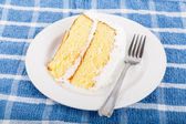Fresh Coconut Cake on Saucer — Fotografia Stock