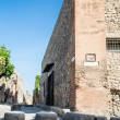 Corner of Brick Building in Old Pompeii — Stock Photo