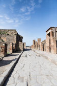 Street Down Center of Ancient Pompeii — Stock Photo