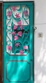 Pink and Aqua Door — Stock Photo