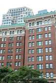 Old Brick Condo Towers in Boston — Stock Photo