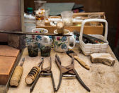 Old Glass Workers Tools — Stock Photo