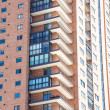 Balconies on Modern Brick High Rise — Stock Photo